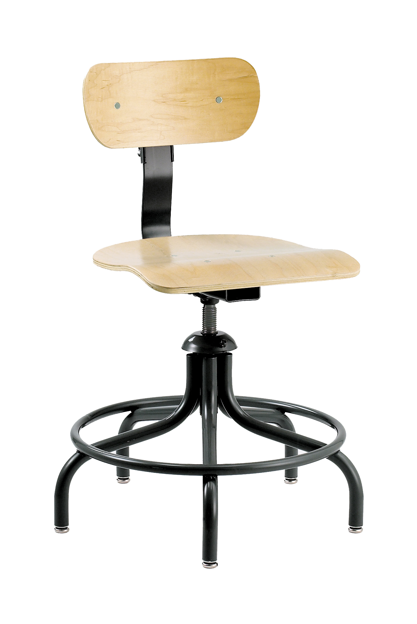 minimal chair height stand test nicole miller bevco 1300 5 leg swivel ii w plastic glides