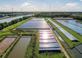 Het zonnepark op Plettenburg bij WRK