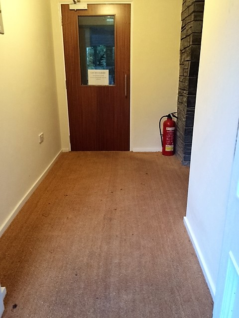 The entrance lobby, now complete with coir matting to complete the look