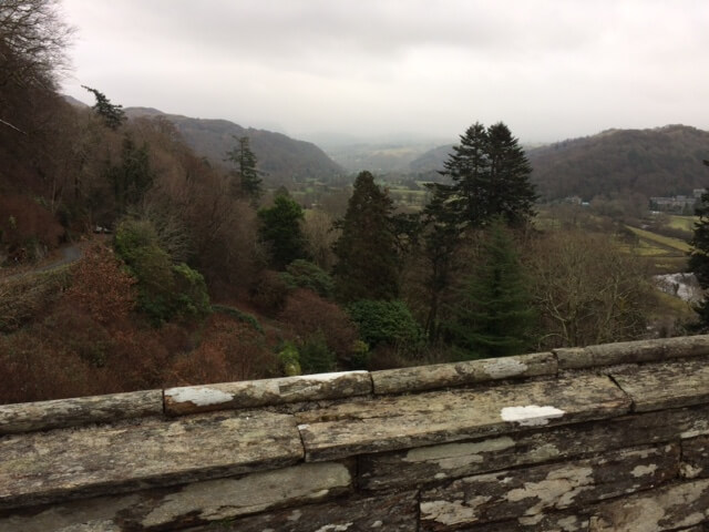 and a view from Plas Tan y Bwlch of the surrounding area