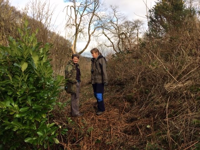 Julie and Yvonne, the intrepid ground clearing team