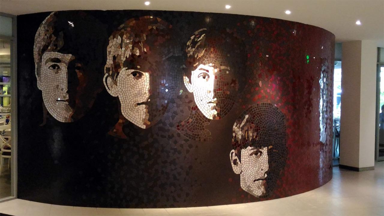 The-Beatles-Mosaic-Art-Hard-Rock-Cafe