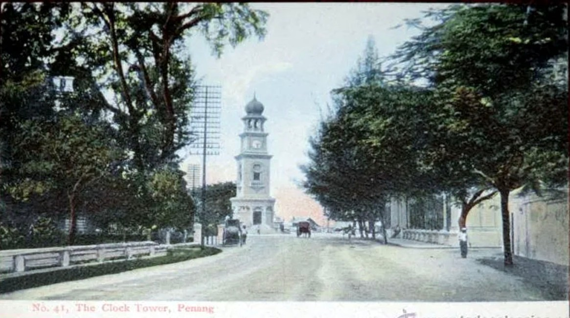 View of the Clock Tower from Light Street in the early days