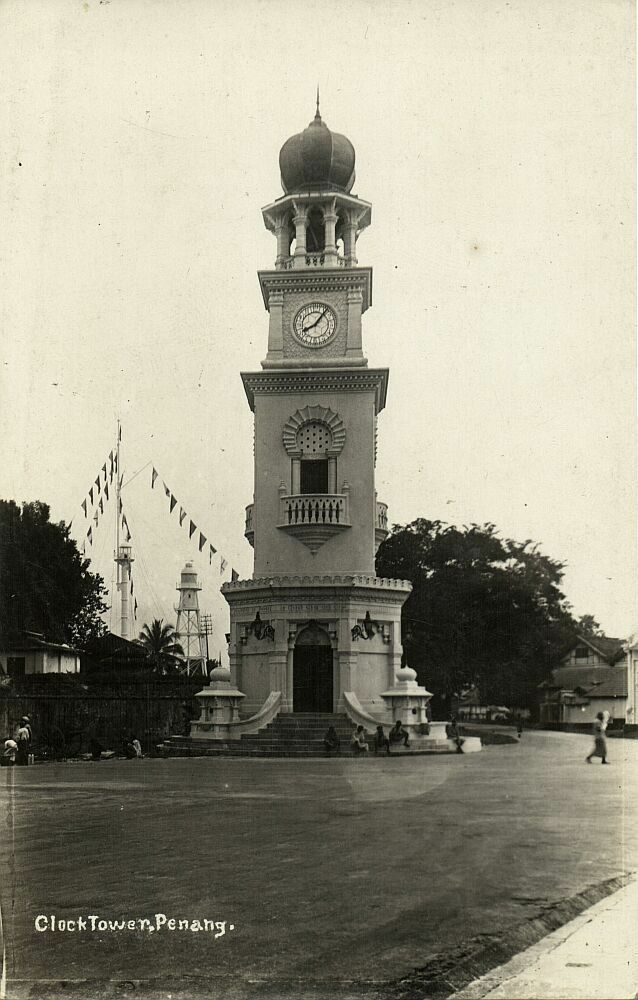 Penang Clock Tower 1920s Postcard