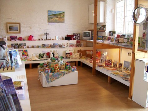 Cornish crafts in the gift shop