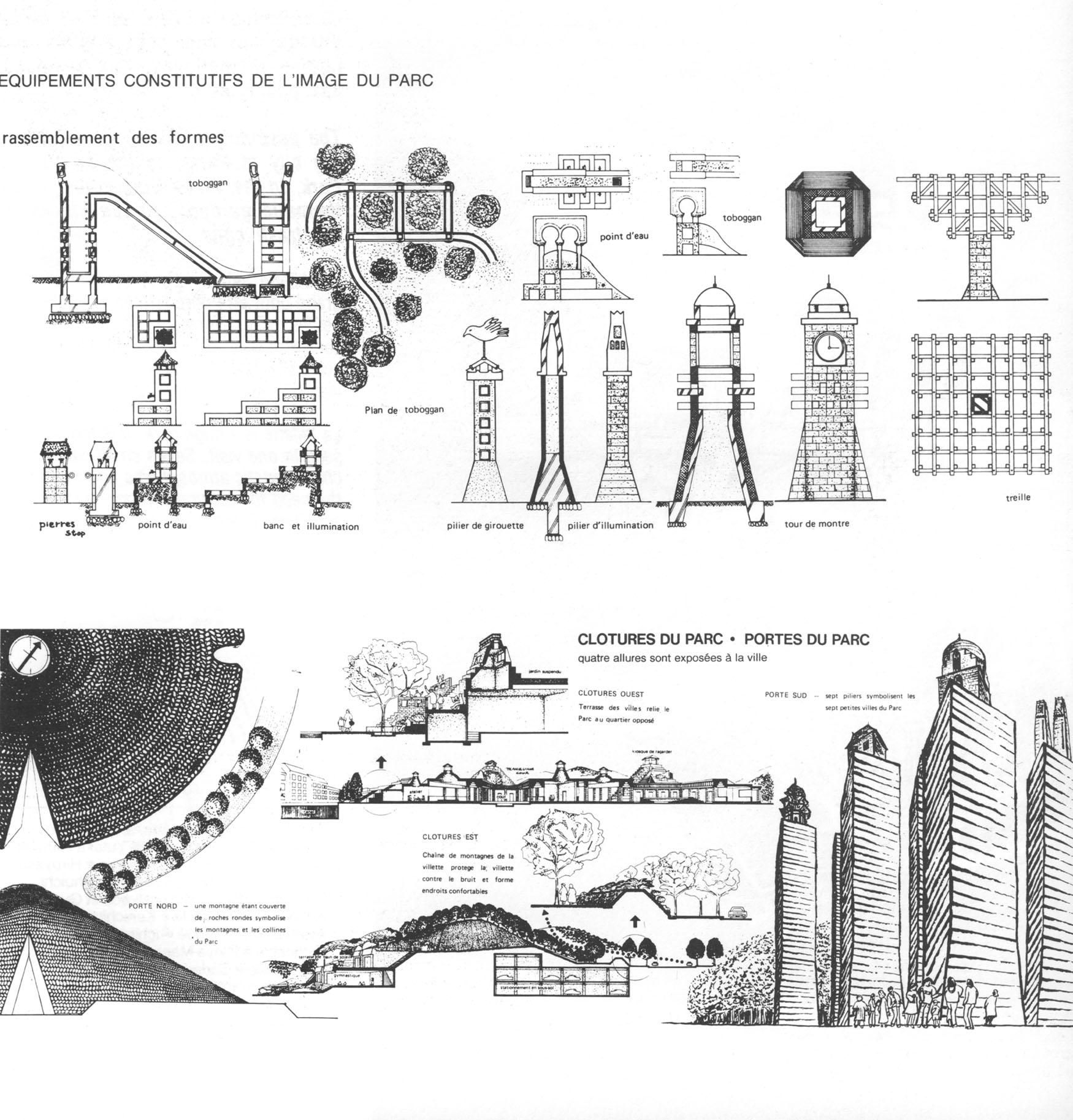 oma parc de la villette diagram pioneer deh 1850 wiring penccil paris