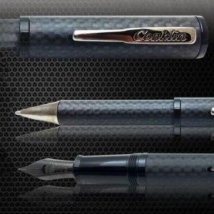 Conklin Matte Carbon Stealth Pen Collection