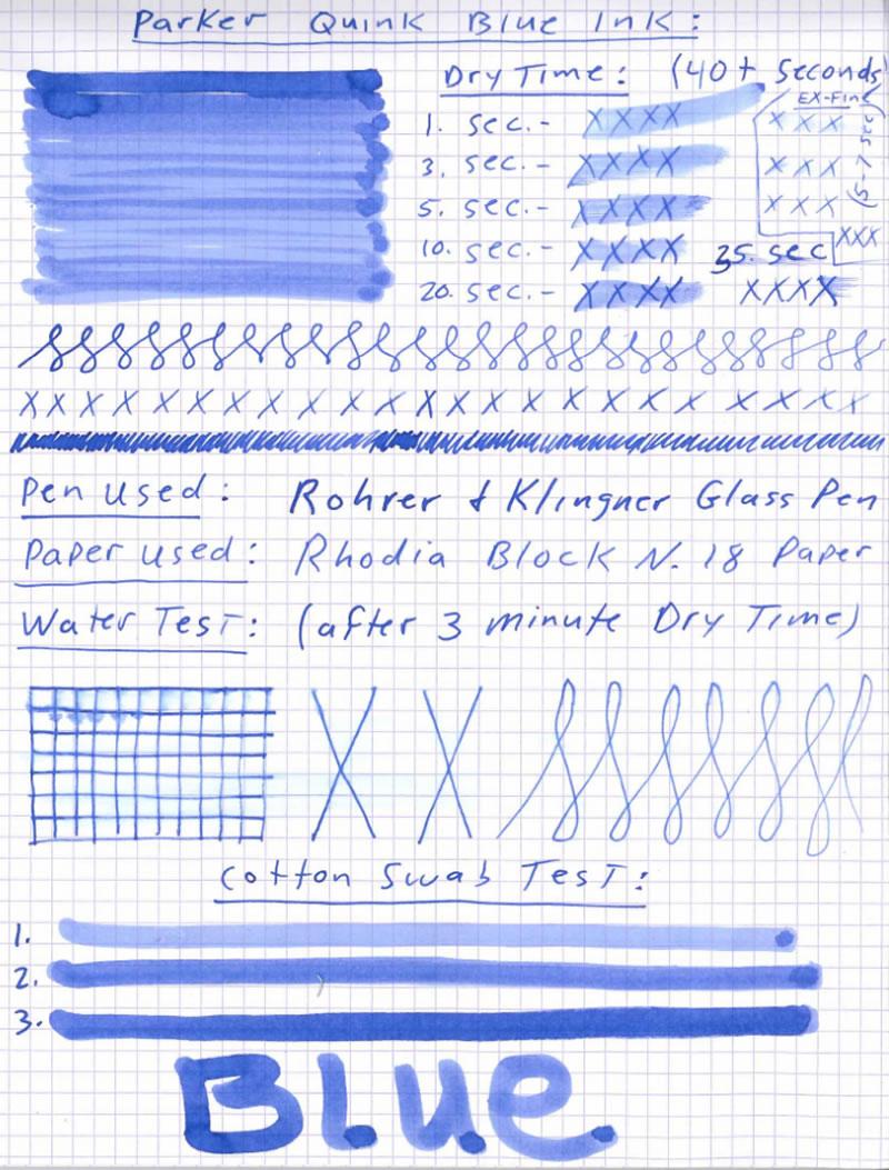 Parker Quink Rollerball Pen Refill Black Blue Ink Medium Fine Ultra Fine Nib