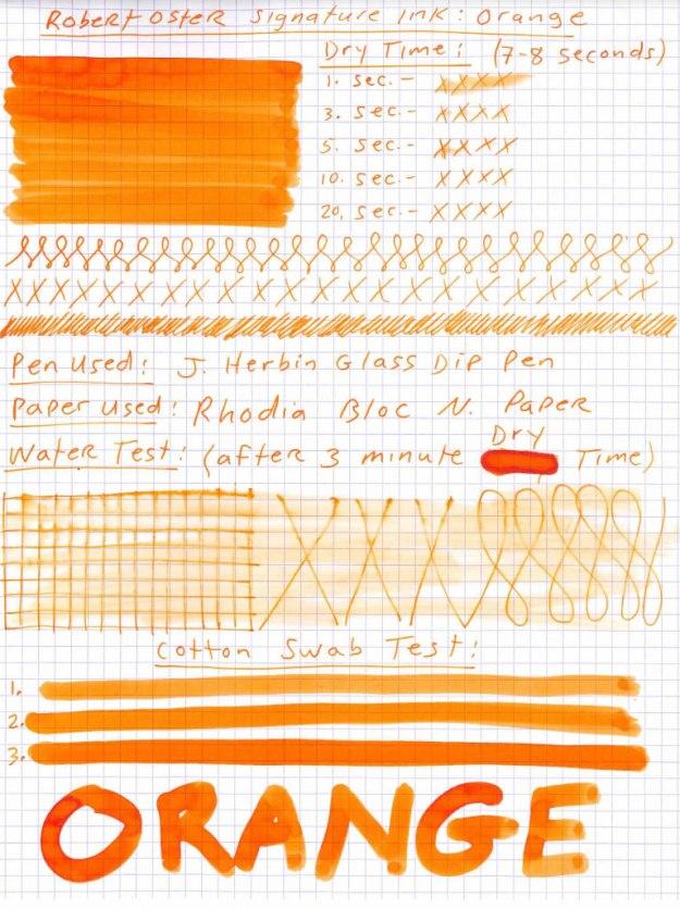 Robert Oster Orange Ink