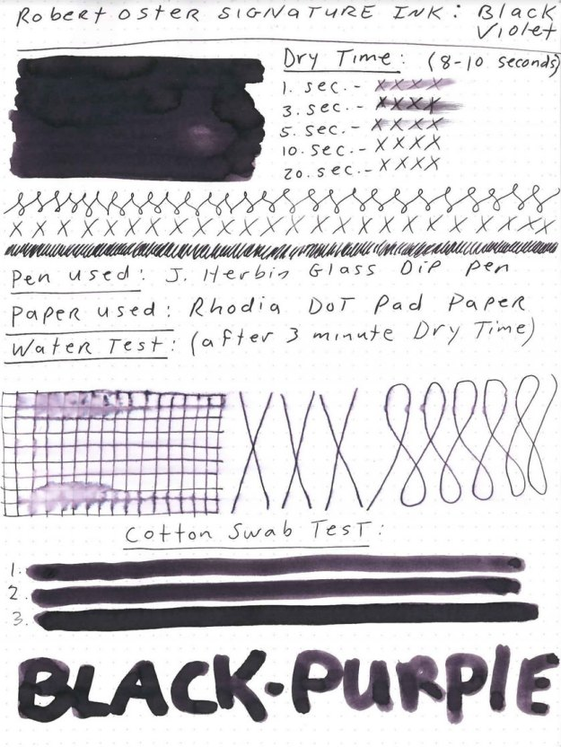 Robert Oster Black Violet Ink