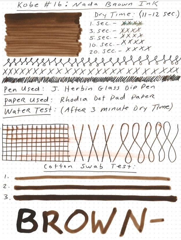 Nagasawa Kobe Nada Brown Ink Review