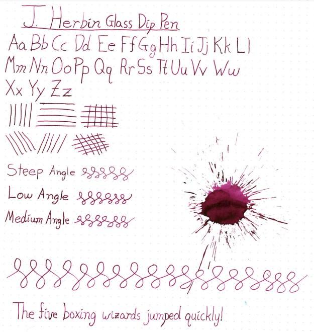 J Herbin Glass Dip Pen Review