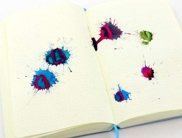 Top Sheening Inks Splatter