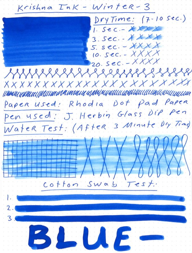 Krishna Winter 3 Ink Review