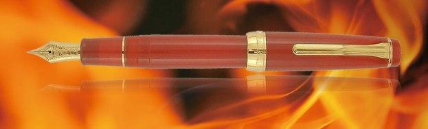 Sailor Professional Gear Fire Fountain Pen