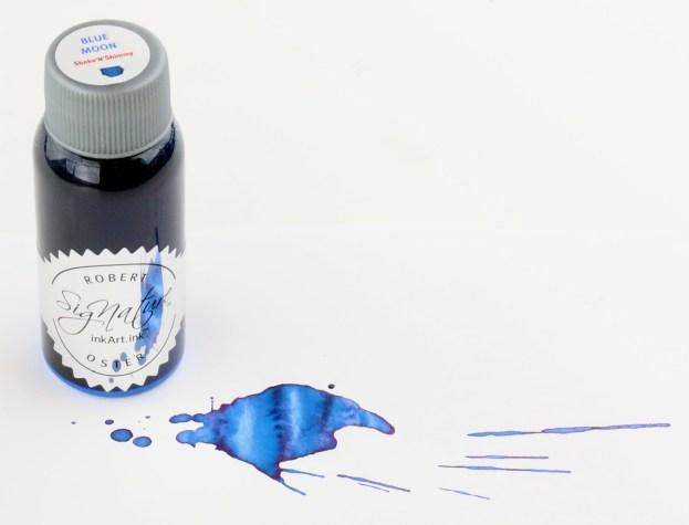 Robert Oster Shake N Shimmy Ink Blue Moon Bottle