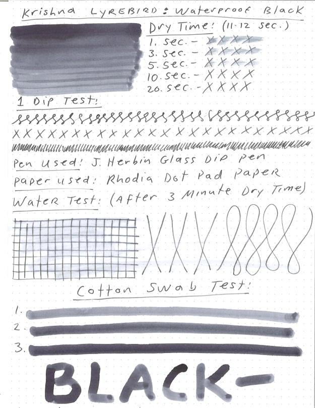 Krishna Waterproof Black Ink Review