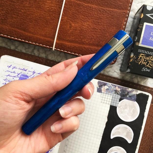 Benu Supreme Azure fountain pen review with Pen Chalet guest reviewer, @acourtofwingsandjournals.