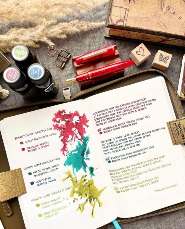 Pen Chalet Robert Oster Exclusive Ink Comparison