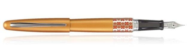 Pilot Metropolitan Retro Pop Fountain Pen in Retro Pop Retro Pop Marigold with Flower