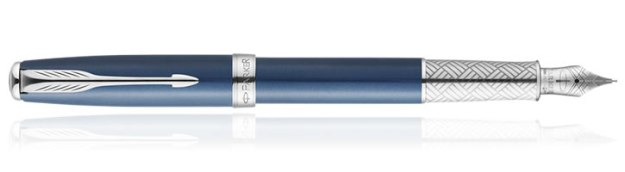 Parker Sonnet Great Expectations Special Edition Fountain Pen in Secret Shell Blue