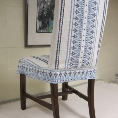Dining Chair Covers In India Windsor Style Rocking Winter Look For Slipcover Pencil Me Looks Chairs Can Be Achieved A Pre Washed 100 Indian Woven Cotton Was Used This Example The Body Of Fabric Gives Shape To