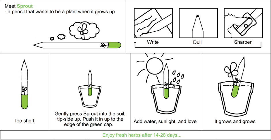 Review of Sprout Pencils.