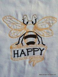 tee shirt brodé abeille
