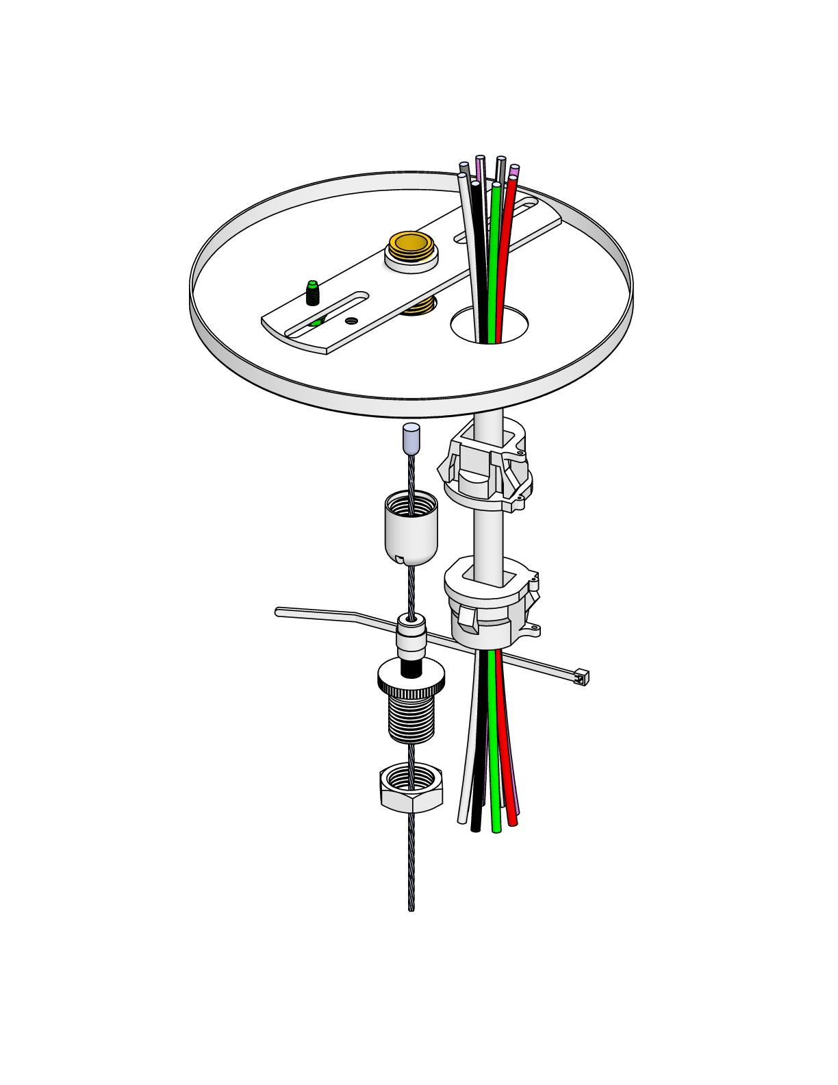 Feed Kit 18/4 & 22/4 Cord Sloped CeilingSeries # 52 CS