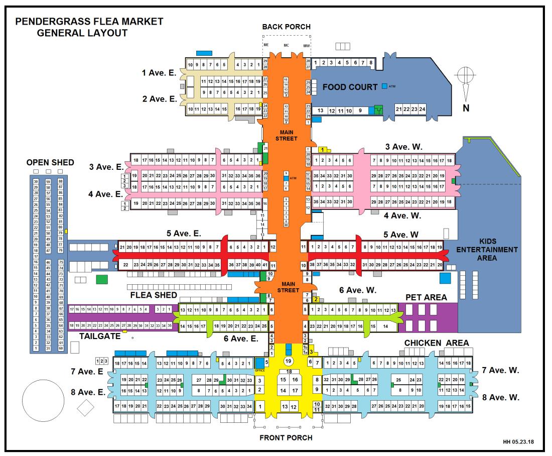 Map of Pendergrass Flea Market