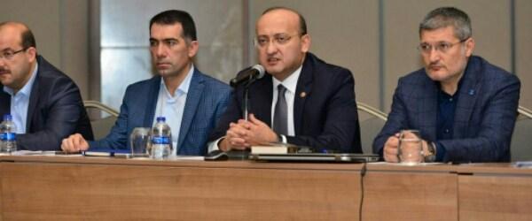 Pendik'teki Yatırımların Konuşulduğu Toplantıya Pendikli Milletvekili Yalçın Akdoğan da Katıldı