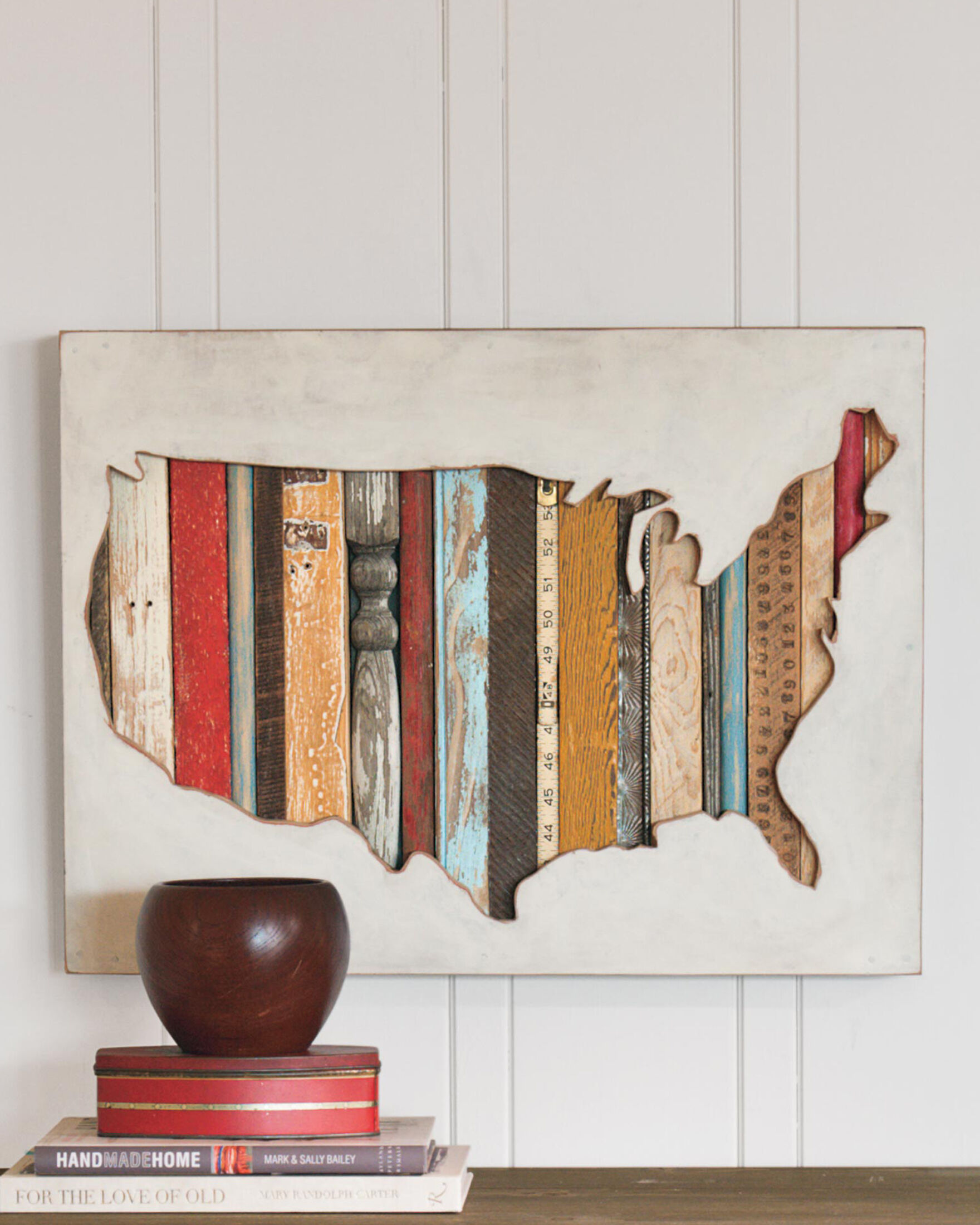 USA MAP WALL ART