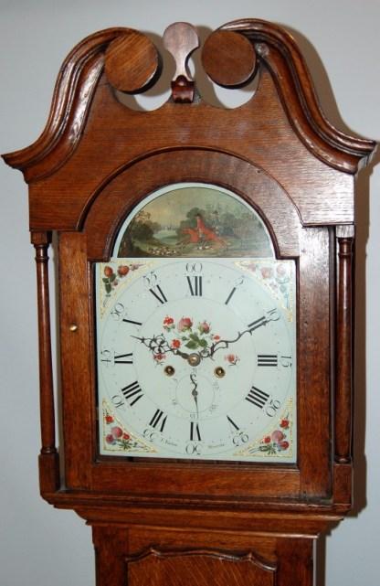 Lovely swan neck pediments on barber clock