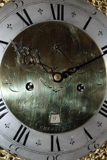 Edward Bilbie signature tot his fine clock