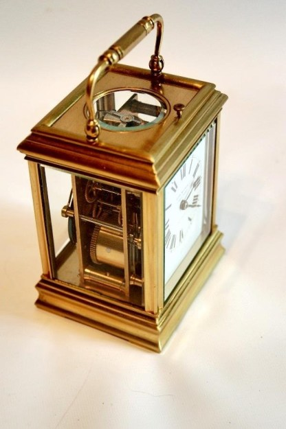 side view walker french carriage clock