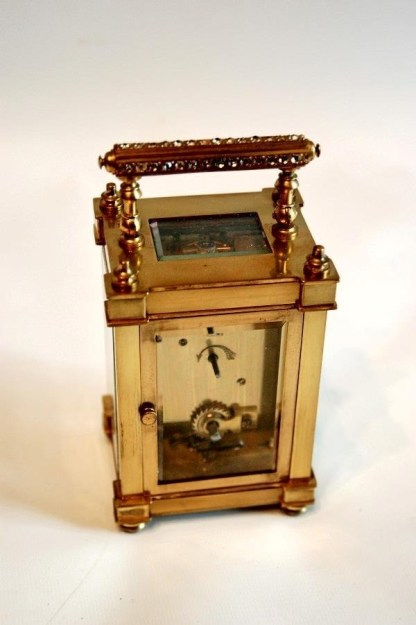 movement ornate carriage clock