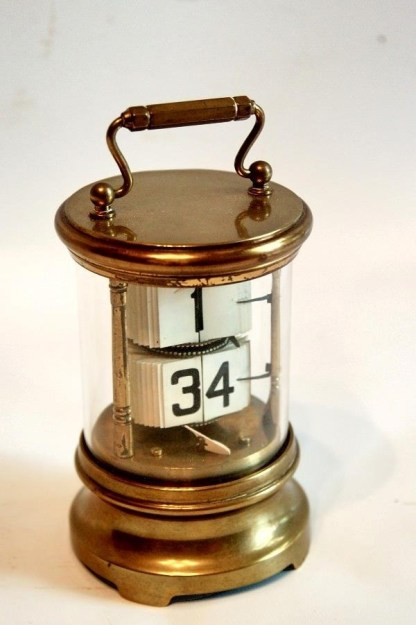 brass ticket clock