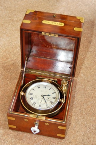 A superb Waltham Watch Company Chronometer