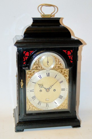 Stumbel ebonized bracket clock