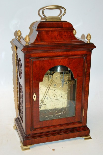 Mahogany casework on Davis bracket clock
