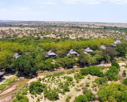 Mara Simba Lodge aerial view