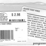 glazed yeast rings label