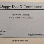 Doggy Doo X-Terminator business card