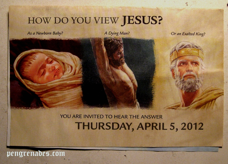 Jehova's Witnesses tract - How do you view Jesus?