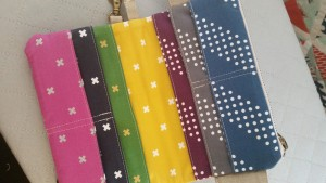 creating multi-color pleats for Della Wallet