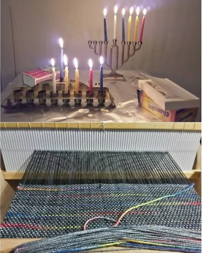 weaving ... and chanukah