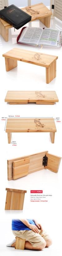 Wood Prayer Chair Knee Chair Meditation Bench Portable ...