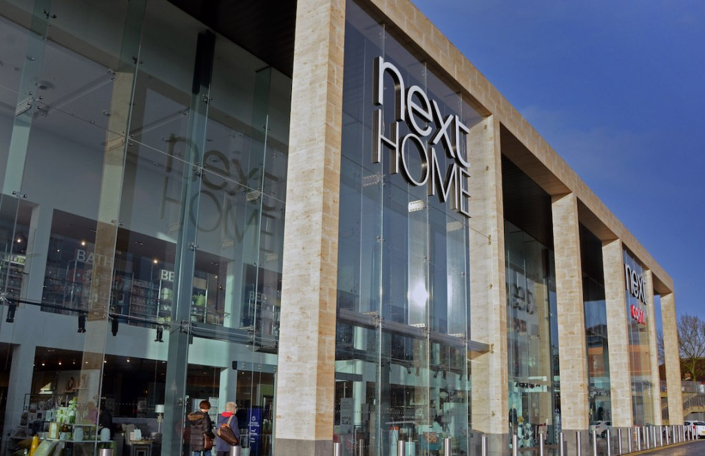 Next's new High Wycombe flagship with Jura Limestone cladding © Next PLC