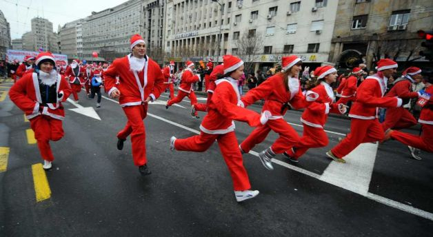 Christmas in Serbia. Photo: Andrej Isakovic / AFP / Getty Images