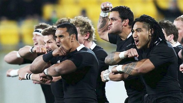 All Blacks performing the haka Photo: Herald Sun (Australia)
